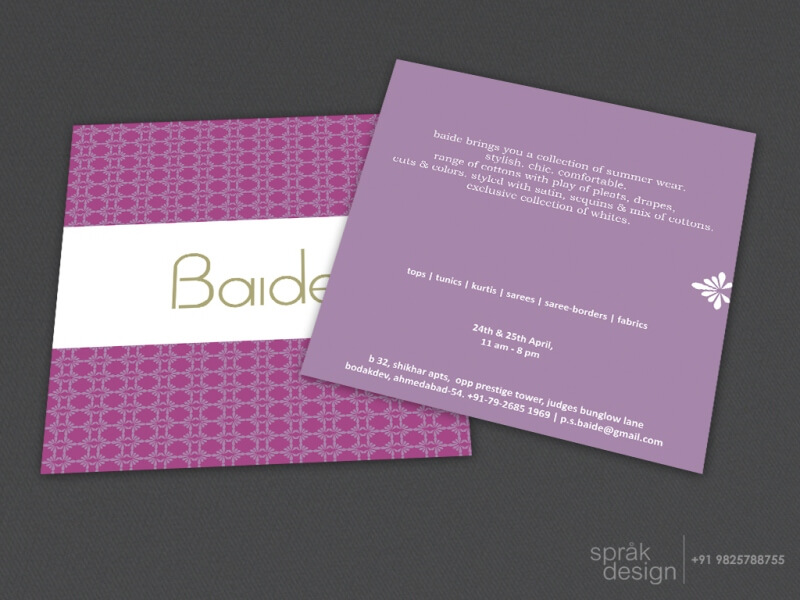 store invitation card design services
