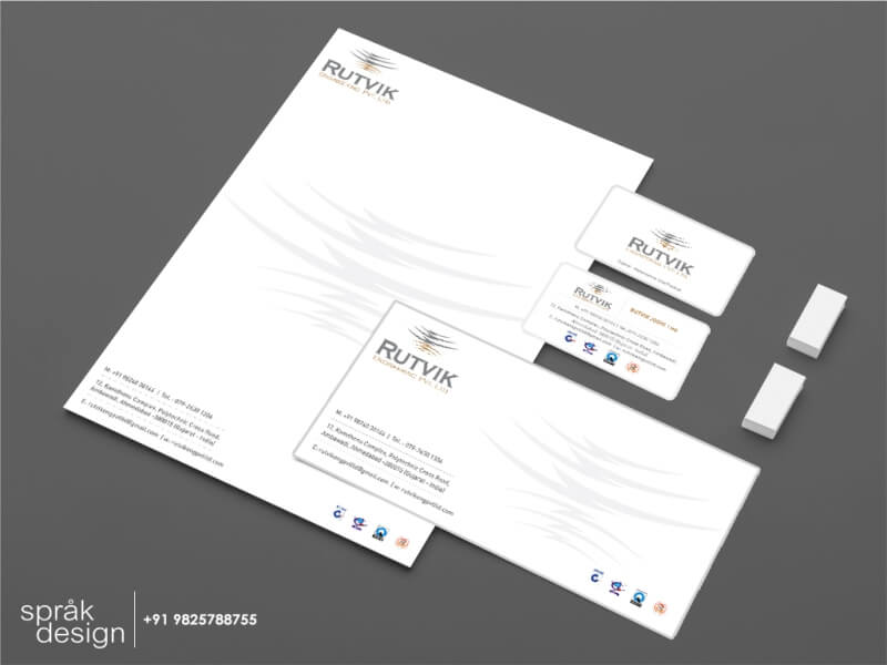Contractor identity stationery